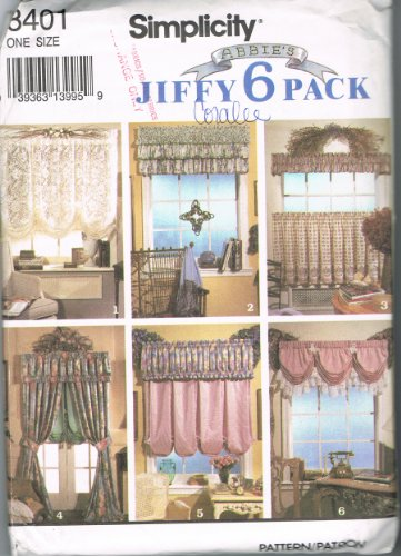 Balloon Curtains Rod Cover Box Valance Window Treatments Simplicity 8401 Sewing Pattern