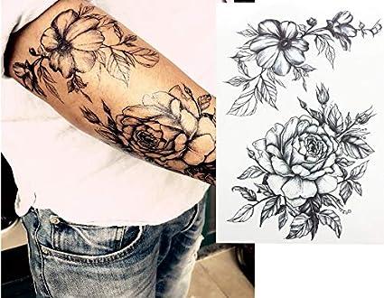 Rosas Tattoo TH de 173 ausdrucksvolles Tattoo: Amazon.es: Belleza