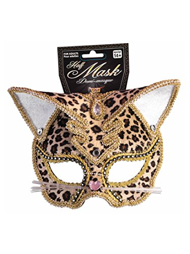 Adult Leopard Mask Deluxe White for $<!--$8.80-->