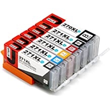 JetSir 6 Color Compatible Ink Cartridge Replacement for Canon PGI-270 CLI-271 XL High Yield,Worked with Canon Pixma MG7720 TS9020 TS8020 Printer (1 PGBK 1 Black 1 Cyan 1 Magenta 1 Yellow 1 Gray )