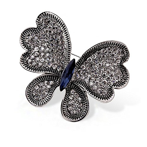 Small Butterfly Pin (Cute Animals Brooch Pins for Women Girl Men Fashion Christmas Gifts Jewelry (Butterfly 04))