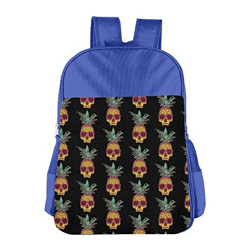 ShaVonNa Kids School Bags Pineapple Skull With Sunglasses Durale Children Book Bag School - The Thomas Train Sunglasses