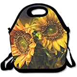 Lunch Tote - Sunflower Waterproof Reusable Lunch Bags for Men Women Adults Kids