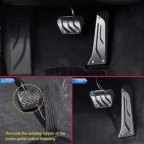 Fits: BMW 1 2 3 4 5 6 7 Series X3 X4 X5 X6 for BMW F15 F16 F30 G01 G02 G05 G20 G30 F22 F25 F36 Accessories Gas Accelerator Brake No Drill Pedals Cover