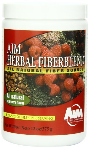 AIM Herbal Fiberblend Fiber Supplement & Colon Cleanser - 375 Grams Raspberry Powder by AIM International