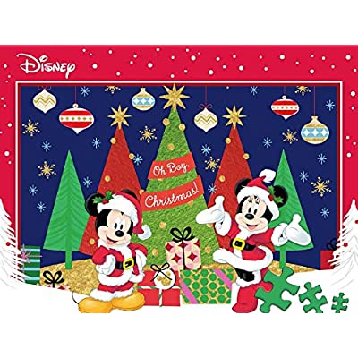 Ceaco Disney Together Time Mickey and Minnie Celebrate The Season Jigsaw Puzzle, 400 Pieces: Toys & Games