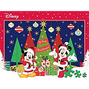 Ceaco Disney Together Time Mickey and Minnie Celebrate The Season Jigsaw Puzzle, 400 Pieces