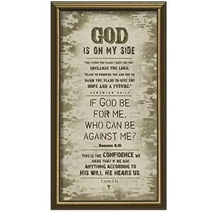 Carpentree God is on My Side/Masculine Framed Art