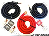 Sky High Oversized 2/0 Gauge OFC AWG Big 3 Upgrade RED/BLACK Electrical Wiring