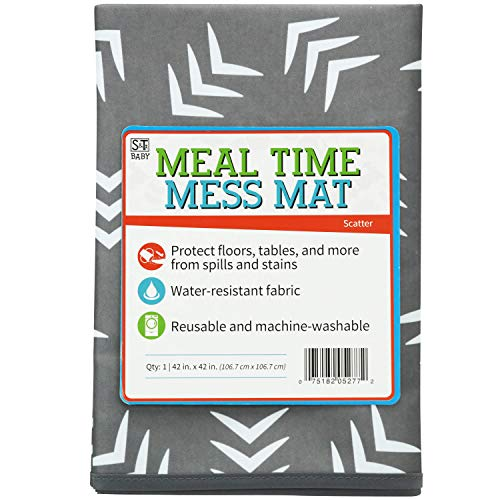 S&T Baby 527701 Water-Resistant, Machine Washable Meal Time Mess Mat - 42
