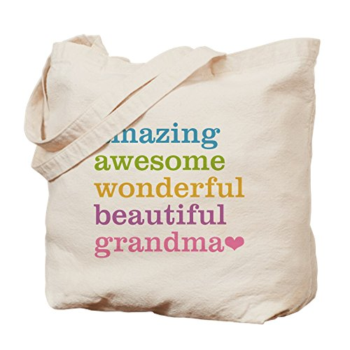 CafePress - Amazing Grandma - Natural Canvas Tote Bag, Cloth Shopping Bag