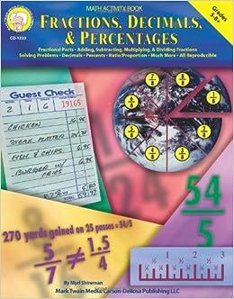 fractions decimals percentages grades 5 8 myrl shireman