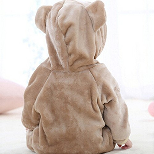 Top and Top Newborn Infant Bear Outfit Flannel Romper Baby Onesies