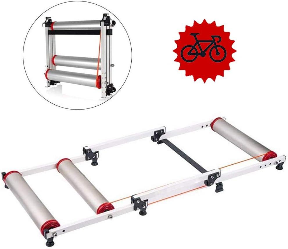 Rodillos de Bicicleta Bicicleta Plegable Entrenador de Soporte de Entrenamiento Bicicleta MTB Rodillo Ciclismo Carretera Ejercicio Resistencia Bicicleta FHUILI Entrenador de Bicicleta Plegable