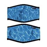 Bluecell 2pcs Ocean Pattern Neoprene Diving Mask Strap Cover (Ocean)