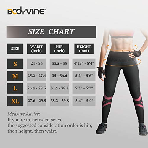 BODYVINES Women's Compression Long Tights Athletic Leggings for Workout Training by BODYVINES (Image #6)