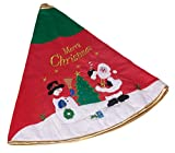 """Snowman and Santa Tree Skirt by Clever Creations 