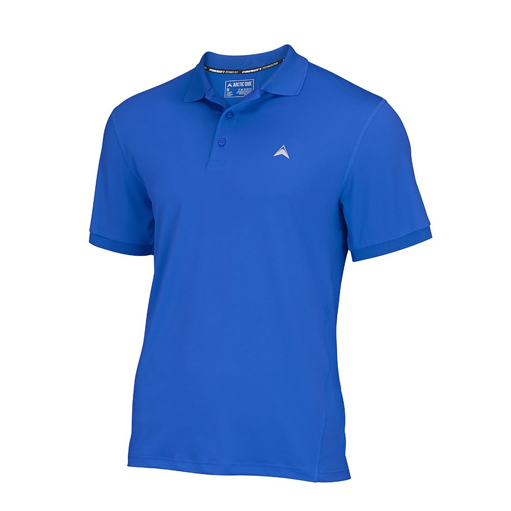Arctic Cool Men's Solid Instant Cooling Polo with UPF 50+ Sun Protection, Polar Blue, XL