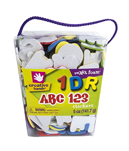 Fibre Craft Book (Fibre-Craft Foam Stickers, 6-Ounce, Self-Adhesive Letters and Numbers)
