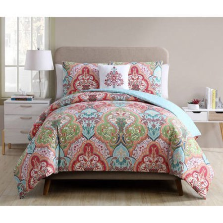 Better Homes and Gardens Jeweled Damask 4-Piece Bedding Duve