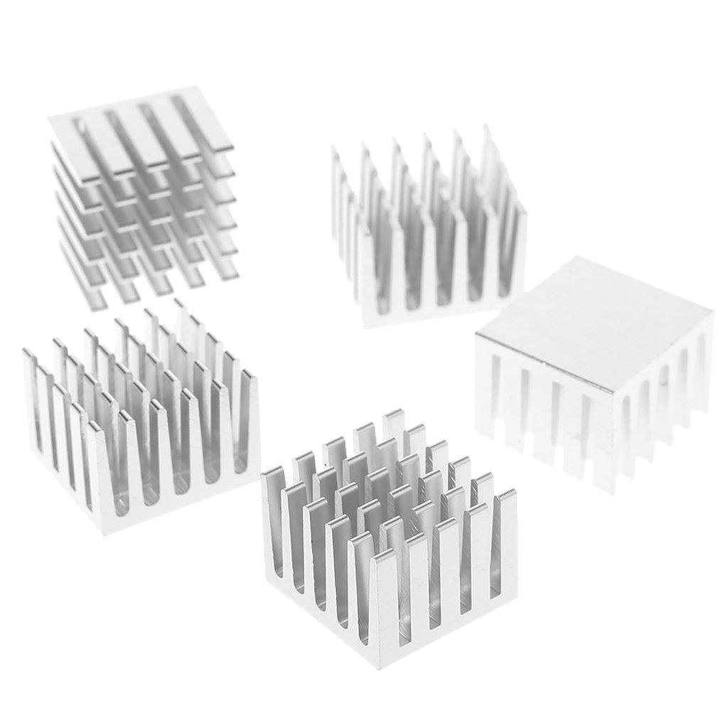 Ranuw 5PCS//set 20/x 20/x 15/mm di raffreddamento CPU GPU dissipatore chip IC dissipatore di calore in alluminio radiatore