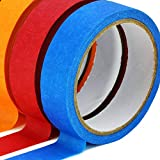 TradeGear Colored Masking Tape 7 Pk – 1 Inch x 15 Yards (45 Ft) - Rainbow Color General Purpose Craft Paper Tape – Perfect for Art, Labeling, Color Code, Classrooms, Painters, Kids, Home, Office, DIY