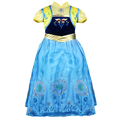 [YiZYiF Christmas Costume Girls Brithday Princess Anna Cosplay Fancy Dress Up 3T] (Baby Anna Costumes Frozen)