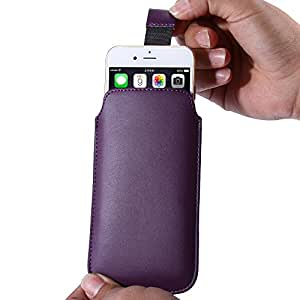 Cell Buddy 4.0inch Universal Use Mobile Phone Pouch Cover Case For iphone 4S 5S 5G Slim Leather Sleeve Bag Strap Buckle i5 Full Protection --- Color:rose