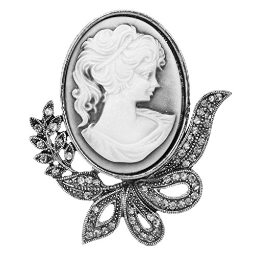 (SEAyaho Vintage Design Queen Style Princess Lady Cameo Brooch Pin Wedding Party Gifts)