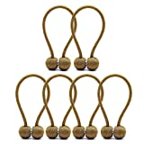 iisutas 6 Pack Magnetic Curtain Tiebacks, Drapes Holdbacks with Strong Magnetic for Home Curtains/Window Decor (Gold)