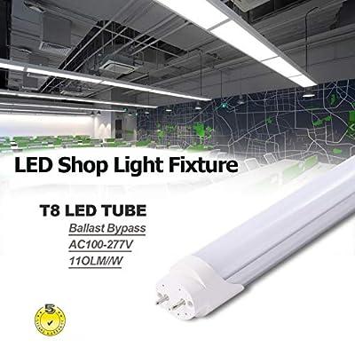 10 Pack 5 Feet T8 led Shop lamp 5ft 24w T8 led Tube Light with G13 Cap Milky Cover 6500k Replace The Fluorescent Light AC100-277V