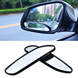 Blind Spot Mirrors, EFORCAR Car Mirror Side View Blind Spot & Wide Mirror Stick on Auxiliary Angle Adjustable Auto Rear View Mirror Stick-on Design Fit for All Universal Vehicles (Pack of 2)