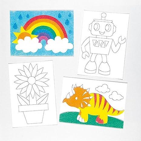 Fogli Con Immagini Per Sand Art E Glitter Art Per Bambini Da