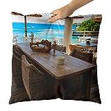 Westlake Art - Restaurant Bar - Decorative Throw Pillow Cushion - Picture Photography Artwork Home Decor Living Room - 18x18 Inch (0E37E)