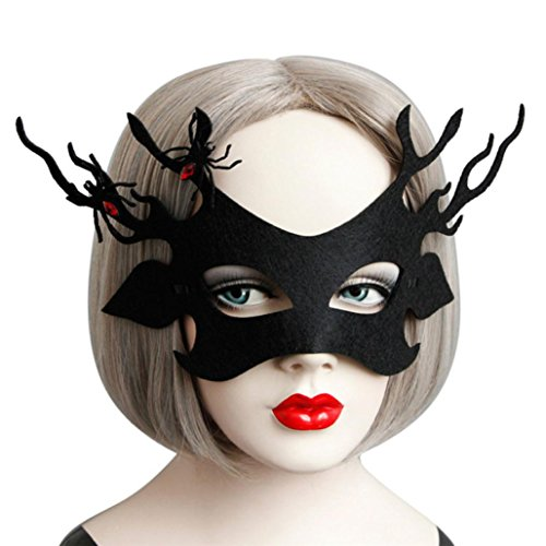 Mask Masquerade Ball, Gotd Pretty Masquerade Lace Mask Cut Prom Party Mask Accessories for Women Kids Teen Girls (black)