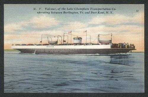 MV Valcour Lake Champlain Transportation Co postcard 1930s