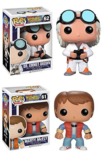 Funko POP! Vinyl Figure Back to the Future Collector Bundle with Marty Mcfly #49 & Doc Emmet Brown #50 (2 items)