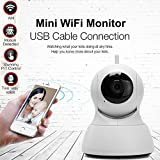 Wireless Home Security HD Mini IP Camera Surveillance Day / Night Vision Two-way Audio Baby Home Monitor Radiationless With 16G Memory Card (White)