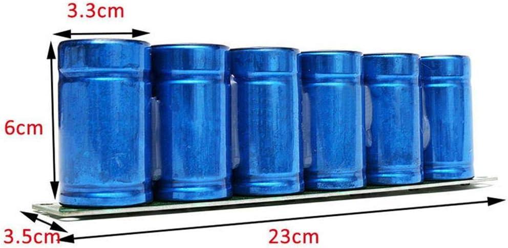 Blau-Yan 6 st/ücke Farad kondensator 2,7 V 500F 35 60 MM super kondensator mit Schutz Bord Aluminium