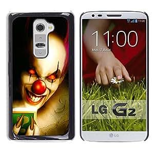 - Clown Evil Joker Pattern - - Hard Plastic Protective Aluminum Back Case Skin Cover FOR LG G2 D802 Queen Pattern