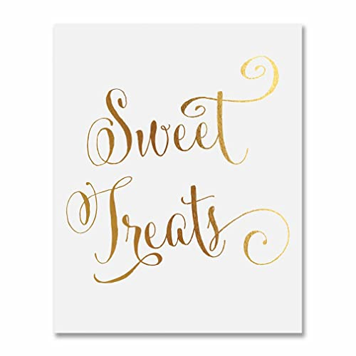 Amazon Sweet Treats Gold Foil Sign Candy Table Buffet Wedding