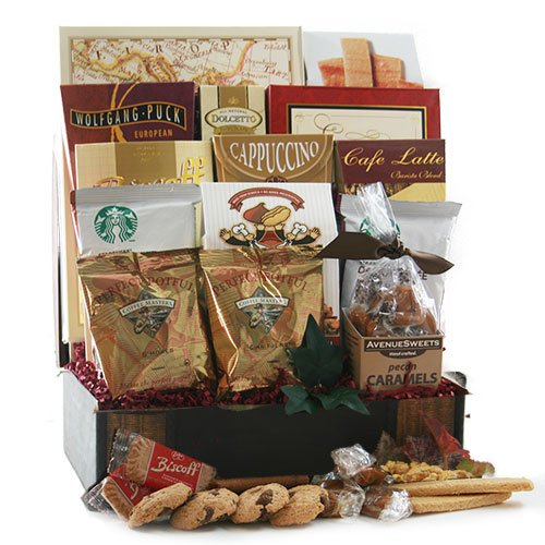 Around The World in 12 Coffees - Coffee Gift Basket by Design It Yourself Gifts & Baskets