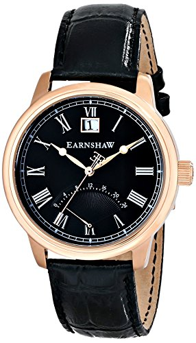 Thomas Earnshaw Men's ES-8033-05 Cornwall Analog Display Japanese Quartz Black Watch