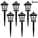 Twinkle Star 6 Pack Solar Pathway Lights Outdoor Solar Garden Lights Solar Landscape Lights for Lawn, Patio, Yard, Garden, Walkway