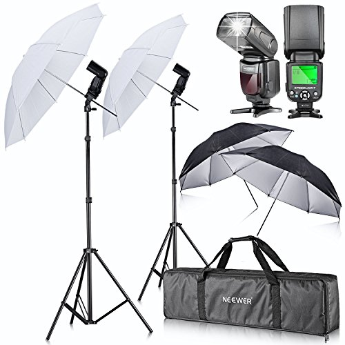 Neewer Umbrella Flash Kit Photography