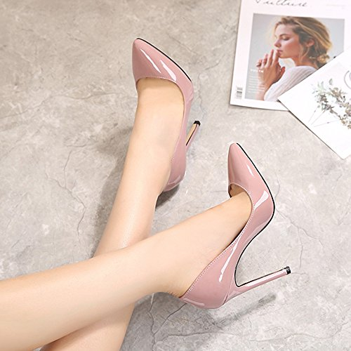 Zapatos de tacón alto con puntera cerrada para mujer de la marca Ochenta, color, talla 43 EU