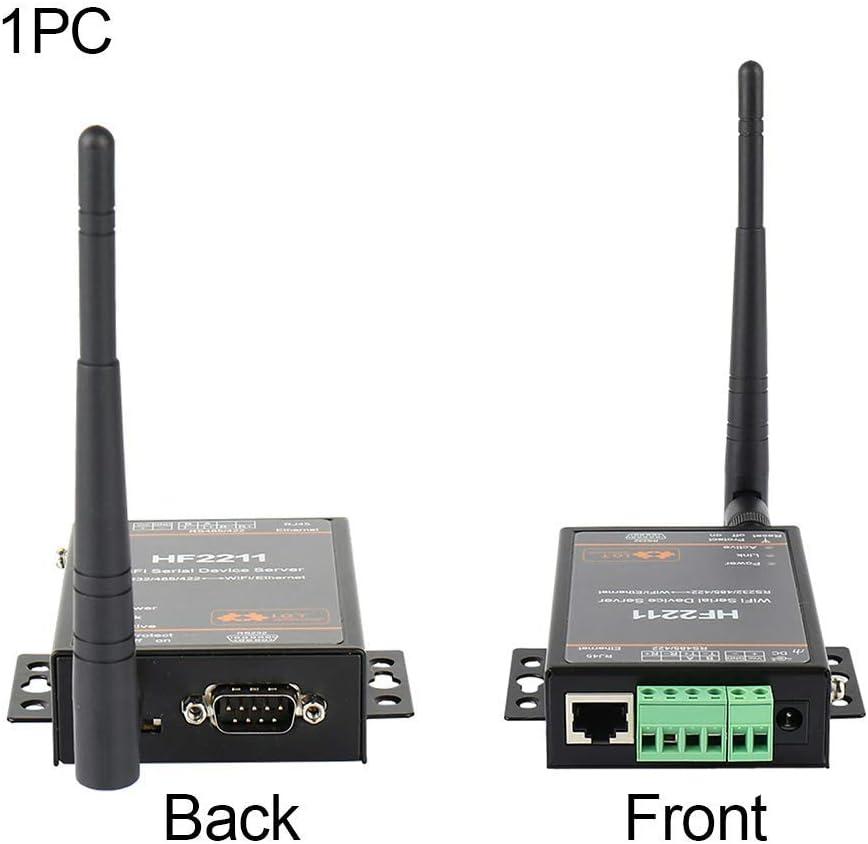 HF2211 Puerto Serie Servidor, Wifi Serial Dispositivo Servidor, Soporte RS232/RS422/RS485 a Ethernet/Wi-Fi Conversión, Soporte Web Ota Inalámbrico ...