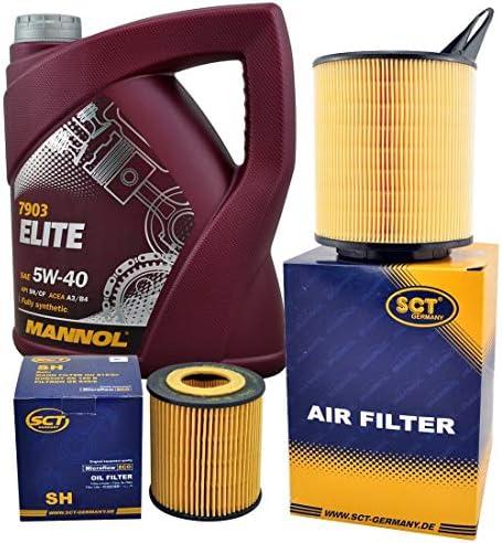 Inspektionspaket Filterset Ölfilter Luftfilter 5 Liter Mannol 5w30 Elite Öl Auto
