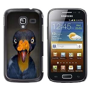 Be Good Phone Accessory // Dura Cáscara cubierta Protectora Caso Carcasa Funda de Protección para Samsung Galaxy Ace 2 I8160 Ace II X S7560M // bird beak tropical turkey yellow blue