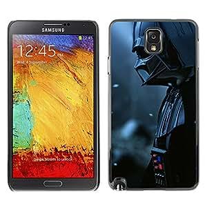 KLONGSHOP // Cubierta de piel con cierre a presión Shell trasero duro de goma Protección Caso - Señor Oscuro Darth Vader - Samsung Note 3 N9000 //